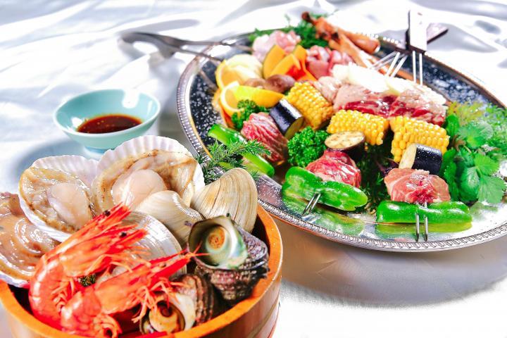 ◆【テラスBBQ基本セット】肉・野菜・魚介をご用意!手ぶらで楽々1泊2食付きバーベキュープラン! 2020