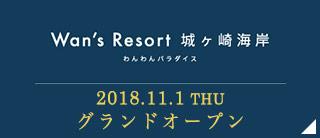 Wan's Resort 城ヶ崎海岸 グランドオープン!